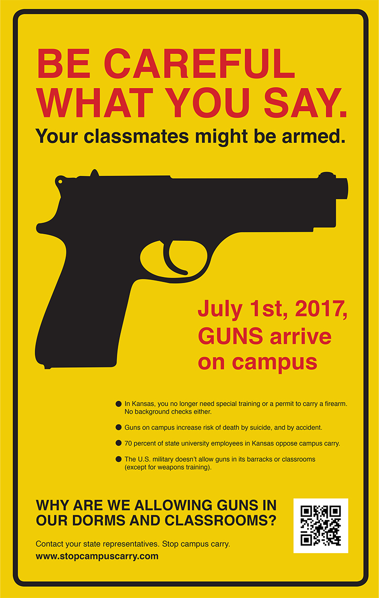 Be Careful What You Say. Your classmates might be armed.