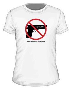 Stop Campus Carry t-shirt (model)