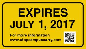 EXPIRES JULY 1, 2017